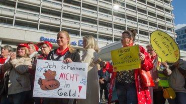22. September 2017: Warnstreik der Postbank-Beschäftigten in Berlin
