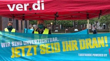 Tarifrunde ÖD 2020: Warnstreik am 06.10.2020 in Kleve